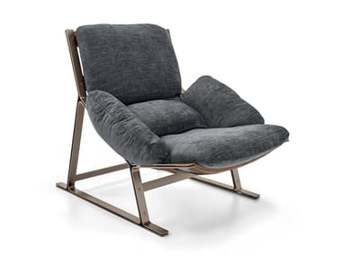 Sled base fabric armchair BELAIR | Fabric armchair