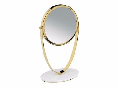 Double-sided round countertop shaving mirror BELLE 768101--- | Shaving mirror