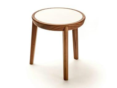 Round wooden coffee table BELLEVUE T01FX