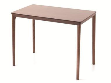 Rectangular wooden high table BELLEVUE T08L/FX/M
