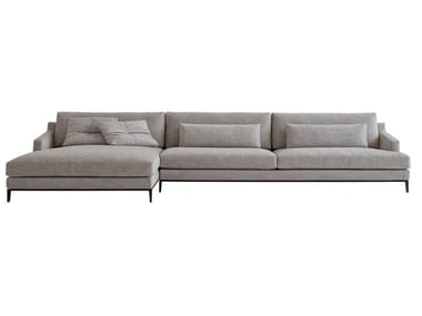 Fabric sofa with chaise longue BELLPORT | Sofa with chaise longue