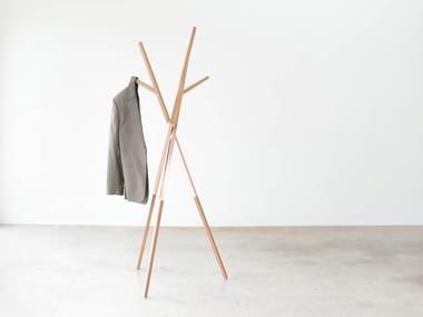 Solid Wood Coat Stand BELLWOODS | Oak Coat Rack