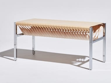 Tanned leather bench DL | Bench