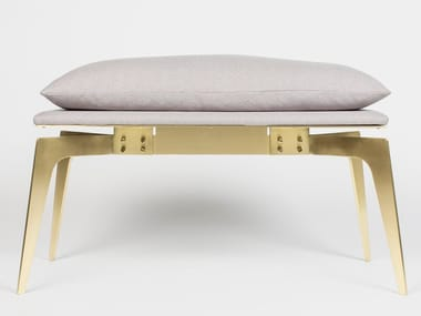 Upholstered fabric bench PRONG | Bench