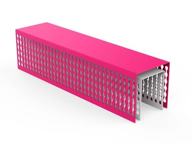 Backless galvanized steel Bench MULTIPLICITY | Bench