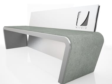 Steel Bench with back FIO'   Bench