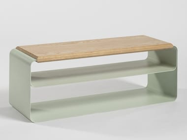 Lacquered plate bench VODO | Bench