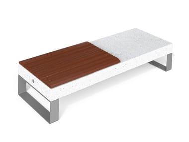 Panchina modulare in HPC senza schienale DIAMANTE ACCESSORIES W   Panchina