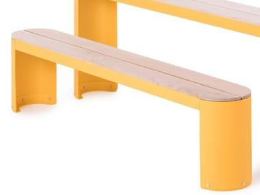 Panchina laccata senza schienale URBAN PLAY | Panchina