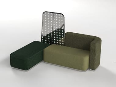 Modular leather bench seating GREEN | Bench seating