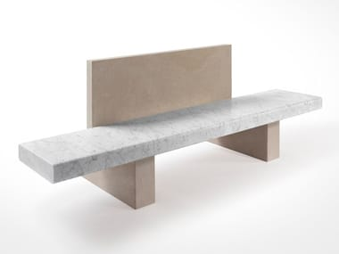 Marble bench with back SPAN | Bench with back