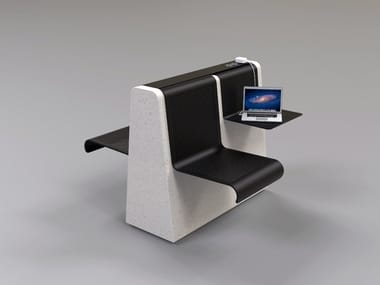 Reconstructed stone Bench with USB CLING | Bench with USB