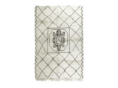 Rectangular wool rug with geometric shapes BENI OURAIN TAA1114BE