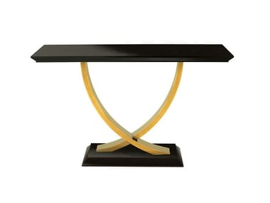 Lacquered rectangular wooden console table BÉRGAMO | Lacquered console table