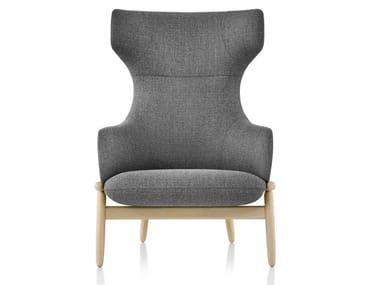 Bergere high-back fabric armchair REFRAME | Bergere armchair