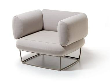 Fabric armchair with armrests BERNARD | Armchair