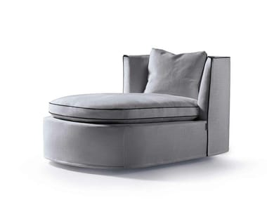 Upholstered fabric day bed BESSIE LONGUE
