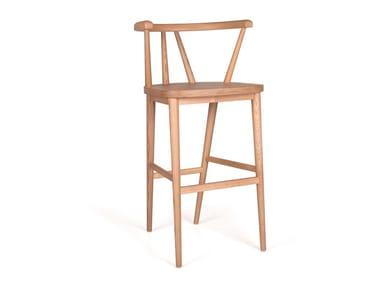 Wooden stool BETTE BAR