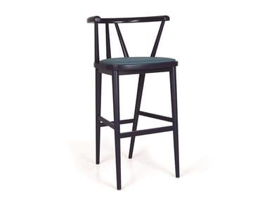 Upholstered wooden barstool BETTE EST BAR