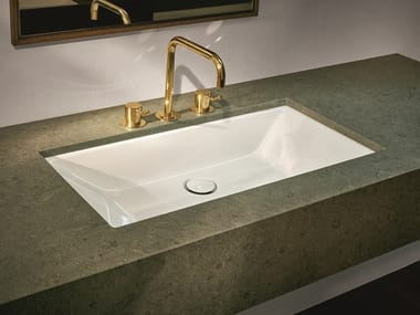 Undermount single enamelled steel washbasin BETTELOFT | Undermount washbasin