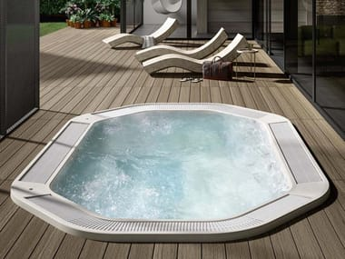 Hexagonal hydromassage hot tub BEVERLY