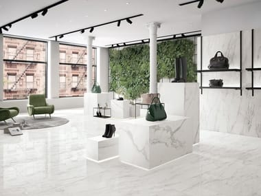 Porcelain stoneware wall/floor tiles with marble effect BIANCO D'ITALIA CALACATTA