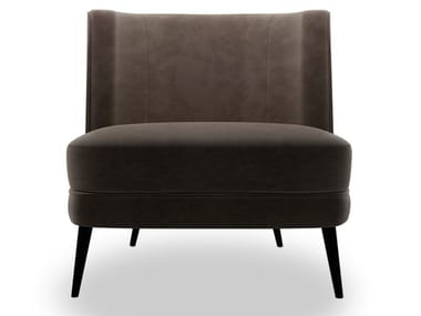 Upholstered nabuk easy chair BIBLO | Nabuk easy chair