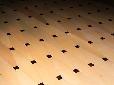 Maple and wengè wall/floor tiles BIEDERMEIER