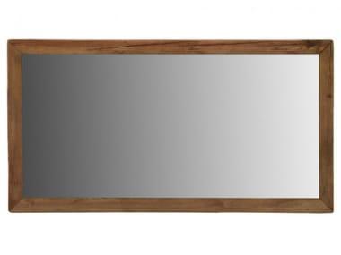 Rectangular pine framed wall-mounted mirror BIG BLUE