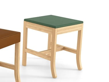 Solid wood stool BIG JIM | Low stool