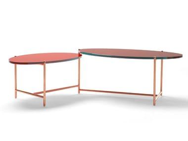 Adjustable crystal coffee table BIG SUR | Crystal coffee table