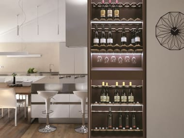Counter frame with wine storage BIGFOOT® MODULE WINE STORAGE