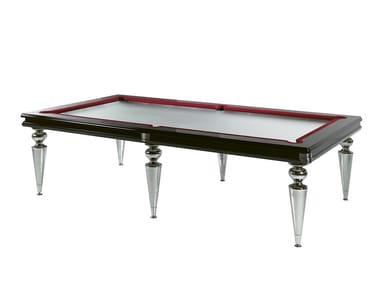 Tavolo da biliardo in legno e vetro BILL