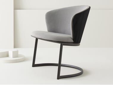 Cantilever upholstered fabric easy chair BILLA   Cantilever easy chair
