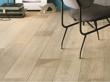Antibacterial porcelain stoneware flooring with wood effect BIO LUMBER LODGE GROVE
