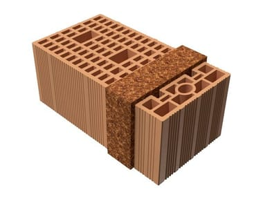 Thermal insulating clay block BIO TRIS® 46X25X19