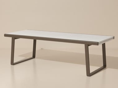 Extending marble garden table BITTA | Marble table