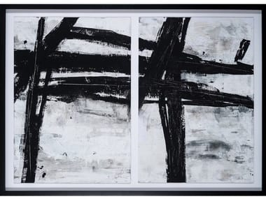 Canvas Painting Black Abstraction