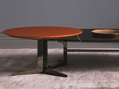 Lacquered round MDF coffee table BLAKE | MDF coffee table