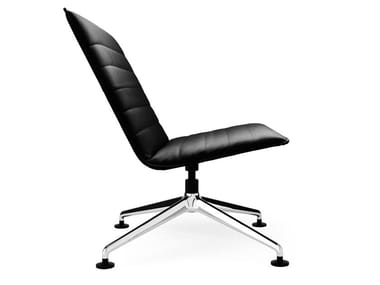 Swivel easy chair with 4-spoke base BLAQ LOUNGE | Easy chair