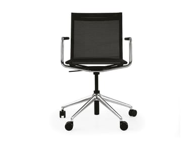Swivel task chair with armrests BLAQ OFFICE CHAIR