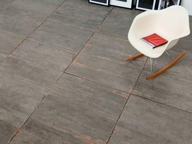 Pavimento/rivestimento in gres porcellanato effetto legno BLENDART GREY