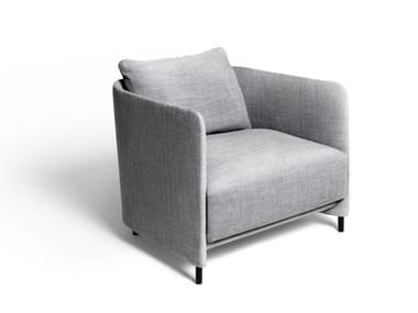 Fabric armchair with armrests BLENDY LOUNGE | Armchair