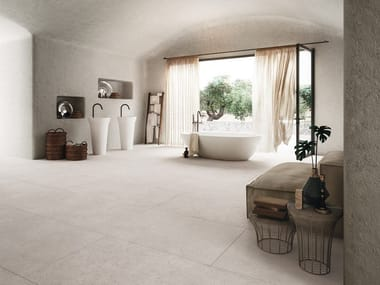Porcelain stoneware wall/floor tiles with concrete effect BLOCK