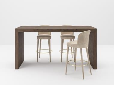 Rectangular wooden High meeting table BLOCK 2.0 | High meeting table