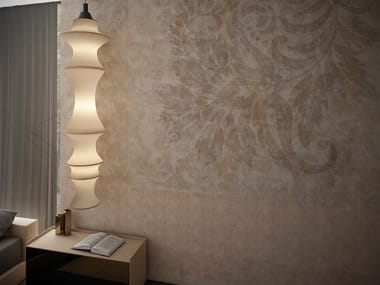 Wallpaper with floral pattern BLOCK PRINT