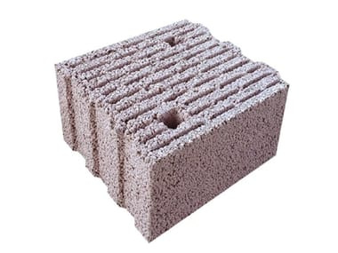 Thermal insulating concrete block BLOCKS TERM ACOUSTICAL