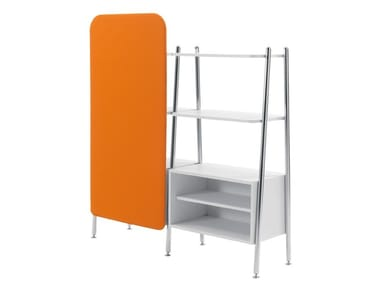 Lacquered engineered wood office shelving BLOG | Office shelving