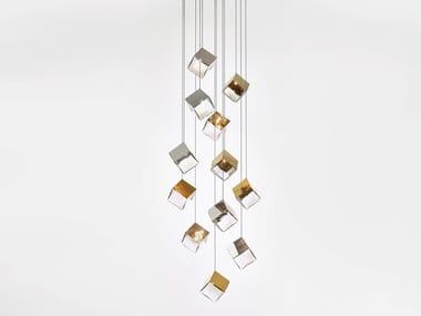 Handmade Blown crystal chandelier PYRITE | Chandelier