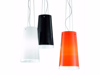 Lampada a sospensione a luce diretta in vetro soffiato SHARON   Lampada a sospensione in vetro soffiato